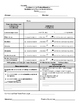 Spanish Parent/Teacher Quick Conference Form in Black & White