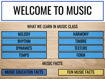 Parent-Teacher Slideshow for Music