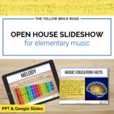 Parent-Teacher Slideshow for Open House in Music