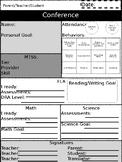 Parent-Teacher-Student Conference Form (editable) PPT