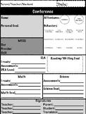 Parent Teacher Student Conference form FREE (PDF)