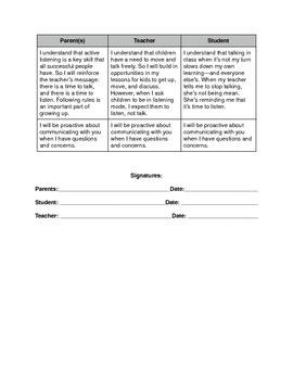Parent-Teacher-Student Contract