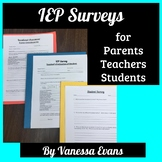 Teacher, Parent, & Student Surveys for IEPs and Transition Plans