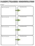 Parent Teacher Weekly Communication Sheet