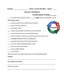 Parent-Teacher conference student self-reflection form
