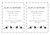 Parent Teacher interview preparation