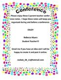 Parent Teachers Conference Notes