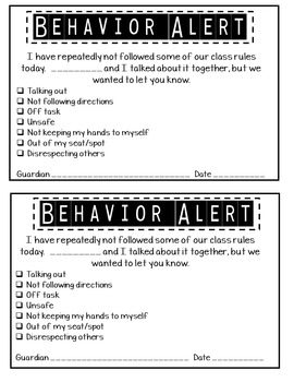 Parent Communication & Behavior Alerts