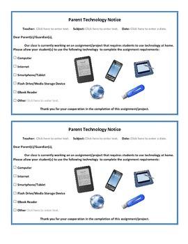 Parent Technology Notice
