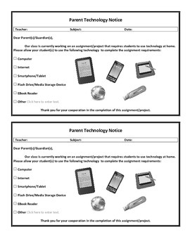 Parent Technology Notice PDF