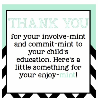 photo regarding Thank You for Your Commit Mint Printable named Totally free and Simple Guardian Thank On your own