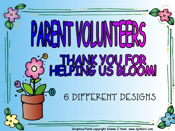 Parent Thank You: End of School Year
