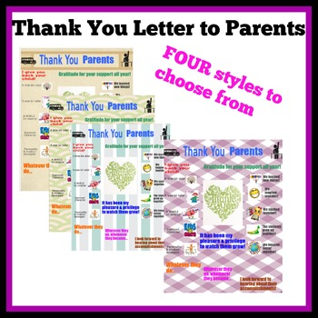 Parent Thank You Letter