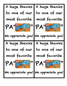 Parent Thank You (Runts)