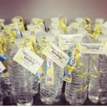 """Parent """"Thank You"""" Water Bottle Tags """"Parents Like You Are So Refreshing"""" label"""