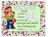 Parent Thank You sign