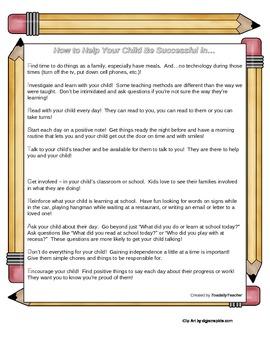 Parent Tips Handout - First Grade