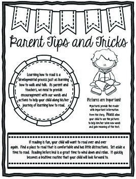 Parent Tips and Tricks (helping children learn to read)