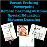Parent Training Powerpoint Distance Learning Special Educa