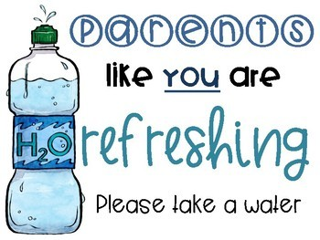 Parent Treat Posters for Back to School or Meet the Teacher Night