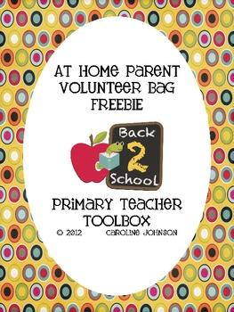 Parent Volunteer Bag Freebie