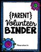 Parent Volunteer Binder Free