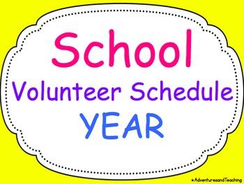 Parent Volunteer Calendar