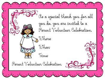 Parent Volunteer Celebration: PV Tea Thank You