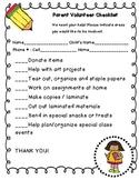 Parent Volunteer Checklist