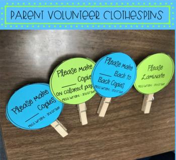 Parent Volunteer Clothespins