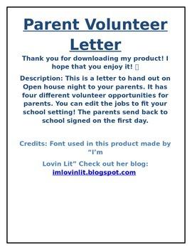 Parent Volunteer Form