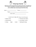 Parent Volunteer Form (EDITABLE)