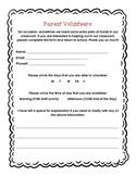 Parent Volunteer Form Prek-K