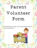 Parent Volunteer Form Star Theme