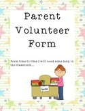 Parent Volunteer Form Star Theme