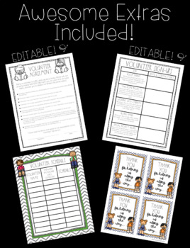Classroom Volunteer Forms! Includes several EDITABLE pages!