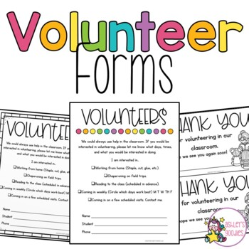 Parent Volunteer Forms