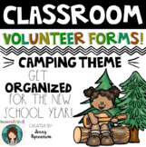 Classroom Volunteer Forms!...CAMPING THEME...Includes seve