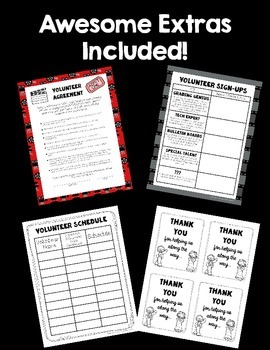 Parent Volunteer Forms! ~Hollywood Theme~ Great for Beginning of the Year!