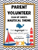 Parent Volunteer Forms! ~Nautical Theme~