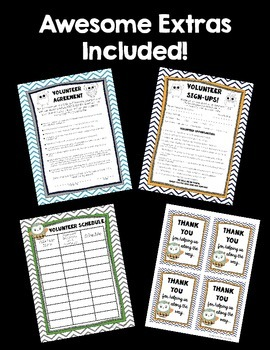 Parent Volunteer Forms! ~OWL Theme~ Great for Beginning of the Year!