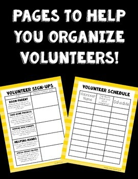 Parent Volunteer Forms! ~Wizard of Oz Theme~ Great for Beginning of the Year!