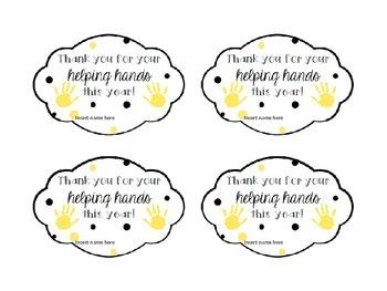 Parent Volunteer Gift Tags