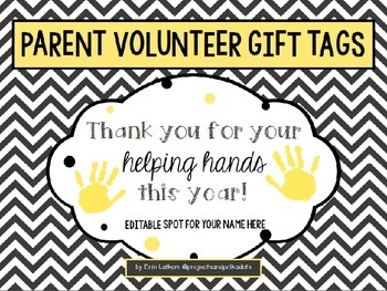 Parent Volunteer Gift Tags