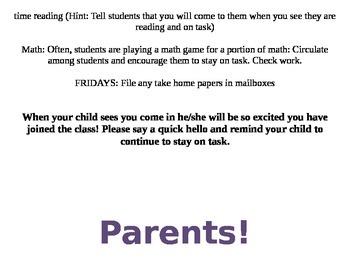 Parent Volunteer Ideas