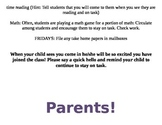 Parent Volunteer Ideas