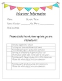 Parent Volunteer Information Sheet