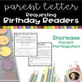 Parent Volunteer Letter ~ Birthday Readers ~
