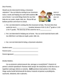 Parent Volunteer Letter in English and Polish