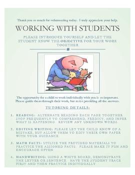 Parent Volunteer Organizers/Task Cards